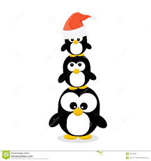 Merry Christmas Card With Penguins Set. Stock Vector - Image: 59500779