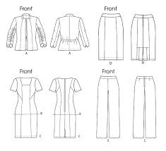 Suit Pattern Extraordinary Vogue Patterns 48 Suit Including Jacket Top Dress Skirt And Pants