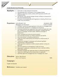 Mortgageoan Originator Job Description Resume Officer Sample
