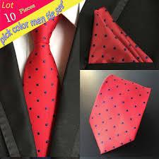 Wholesale Designer Ties Us 40 59 42 Off 10 Pcs Lot Wholesale Mens100 Silk Tie Set Neck Ties Handkerchief Necktie Pocket Square Hanky Wedding Party Banquet Suit In