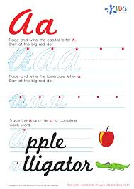 Handwriting Alphabet Worksheets For Kids