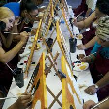 photo taken at painting with a twist westheimer by lauren l on 3
