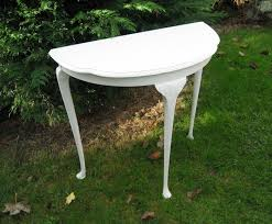 half table for hallway. New Ideas Half Table For Hallway With An Elegant Moon Design Curved Queen W