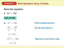 example 2 solve the equation a 2x 4 162 solution a