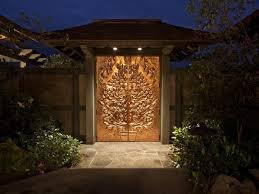 luxury front doorsAsian Front Door with exterior stone floors  Fence  Zillow Digs