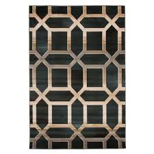 lavish home opus art deco teal 5 ft x 8 ft area rug