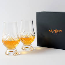 the glencairn official cut crystal whisky glass set of 2 presentation box