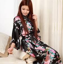 plus size silk robe satin robe sleepwear silk pajama casual bathrobe animal rayon long