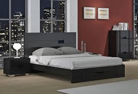 Tremendous Black Lacquer Bedroom Furniture Misty Bed Collection King ...