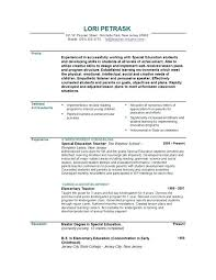 Sample Resume For Teaching Examples Of Teaching Resumes Englishor Com
