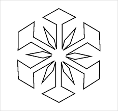 17 Snowflake Stencil Template Free Printable Word Pdf Jpeg