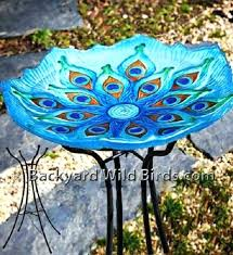stained glass bird bath of paradise scene solar patterns stained glass bird bath