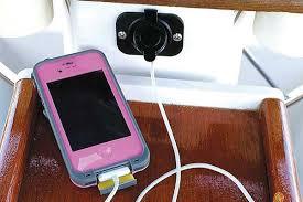 installing a usb socket boatus magazine Outdoor Socket Wiring Diagram photo of a usb socket with phone plugged in Light Socket Wiring Diagram