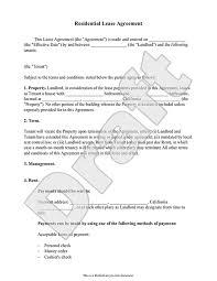 55 Fresh Rental Lease Agreement Form – Damwest Agreement
