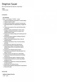 Java Sample Resume Developer Years Experience Doc 2 Pdf Indeed For 6
