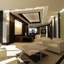 office interiors design. Modern Ceo Office Interior Design - Mix White Furniture With Wood Theme Interiors