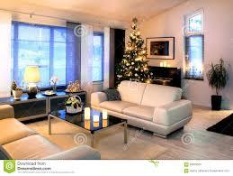 Living Room Christmas Modern Living Room With Christmas Tree Dedoration Stock Photo