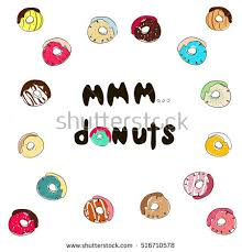 Mmm Stock Quote Enchanting Mmm Donuts Inscription Stock Quotes Donuts Stock Vector Royalty
