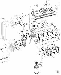 mercruiser 5 7lx 4 barrel gm 350 v 8 1997 intake manifold engine section