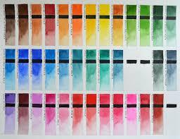Winsor Newton And Schmincke Horadam Watercolor Chart In 2019