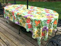 round patio tablecloth with umbrella hole square rectangle outdoor 48 inch