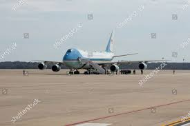 Air Force One seen Joint Base Andrews ...