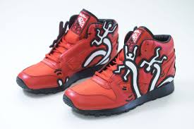 Reebok Keith Haring Techy Red White Black Size Us 9 Shoes Sneakers