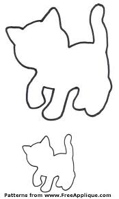 free cat patterns to use as applique patterns quilt patterns or clipart
