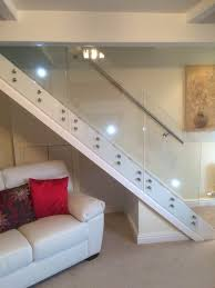 Staircase Side Railing Designs Side Mounted Glass Staircase Balustrade With Wall Fixed