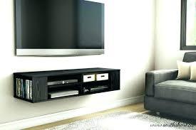 hang tv on wall mount cable box behind wall mounted shelves for equipment wall shelves for hang tv on wall hang on brick