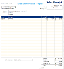 Blank Invoices Templates Excel