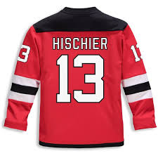 Devils Youth Replica Branded Hischier Jersey Player Nico Red New Fanatics
