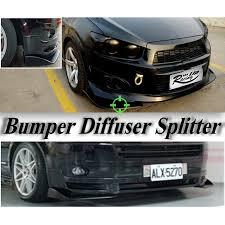 <b>Car</b> Universal Aero <b>Front</b> Bumper <b>Lip Splitter Diffuser</b> black | Shopee ...