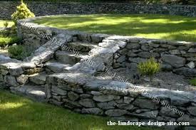 landscape stone wall ideas best backyard retaining