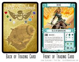 Trading Card Design The Alice Trading Card Card Game Design Inspiration Pinterest