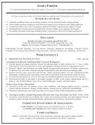 Cpa Resum Template Junior Accounting Work Experience Cpa Resume