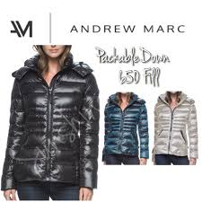 andrew marc womens short down 650 fill detachable hooded jacket size xs