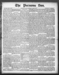 The Parsons Weekly Sun from Parsons, Kansas on June 16, 1887 · Page 1
