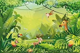 jungle wallpaper for kids. Plain For Buy Walls And Murals Vinyl 3D Peel Stick Wallpaper For Kids Room 40 Throughout Jungle For