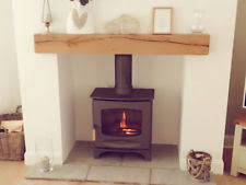 Contemporary Solid Oak Beam | Floating Fireplace Mantel Shelf Air Dried