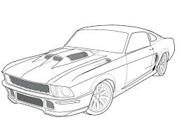 Free Car Coloring Pages To Print Muscle Car Coloring Pages Free