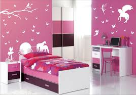 pink bedroom designs for girls. Bedroom: Pink Bedroom Design Ideas For Girl With Artsy Unicorn And Trees Decal Arts Also Designs Girls O