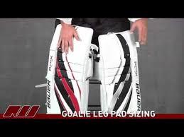 Goalie Leg Pad Sizing