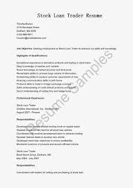 Sample Traders Resume Great Sample Resume Resume Samples Stock Loan Trader