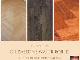 oil based vs water borne polyurethane which hardwood flooring