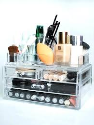 cosmetics storage desktop wood