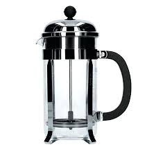bodum chambord 8 cup french press glass replacement with a plastic beaker chrome