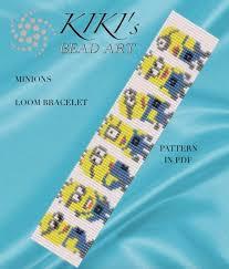 Bead Loom Bracelet Patterns New Bead Loom Pattern Minions LOOM Bracelet Pattern In PDF Etsy