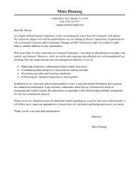Leading Professional General Contractor Cover Letter Examples