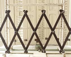 Metal Accordion Coat Rack Wood peg rack Etsy 10